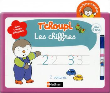 Mon livre ardoise T'choupi - Les chiffres - Dès 4 ans
