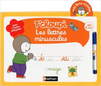 Mon livre ardoise T'choupi - Les lettres minuscules - Dès 5 ans