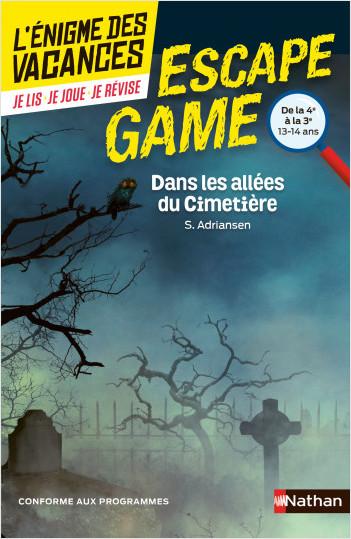 Enigme des vacances - Escape game - Dans les allées du cimetière - 4e/3e