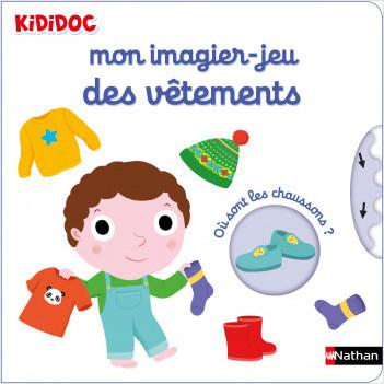 Mon imagier-jeu des vêtements - Kididoc livre animé - dès 1 an