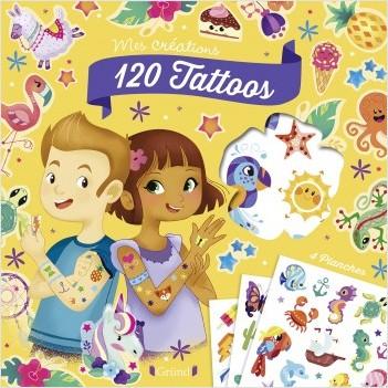 120 tattoos –  Pochette Tattoos colorés d'animaux et attrape-rêves – À partir de 5 ans