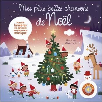Mes plus belles chansons de Noël –  Livre sons et lumières avec 6 puces – Dès 1 an