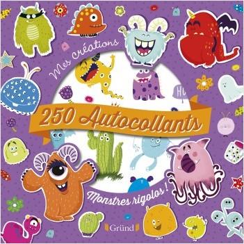 250 autocollants : Monstres rigolos – Pochette autocollants d'animaux et de motifs – À partir de 3 ans
