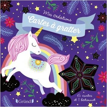 Cartes à gratter : Licornes – Pochette avec 6 cartes à gratter – À partir de 6 ans