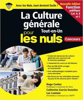 La Culture générale Tout en un Pour les Nuls concours - Fonction publique NE