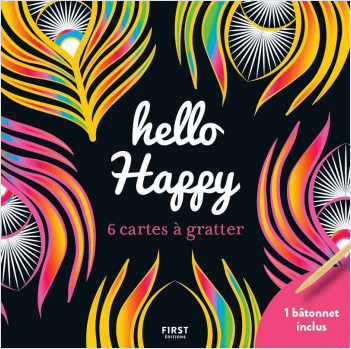 Cartes à gratter - 6 mini cartes à gratter  - Hello Happy