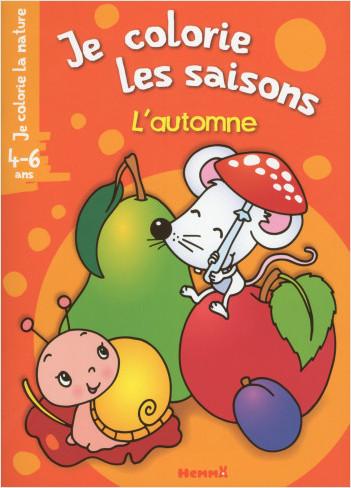 Je colorie la nature - Je colorie les saisons - L'automne (4-6 ans) (Souris blanche)