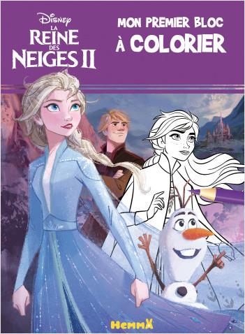 Disney La Reine des Neiges 2 - Mon premier bloc à colorier (fond violet)
