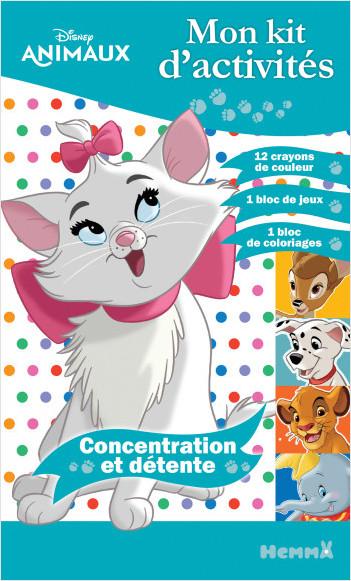Disney Animaux - Mon kit d'activités Concentration et détente