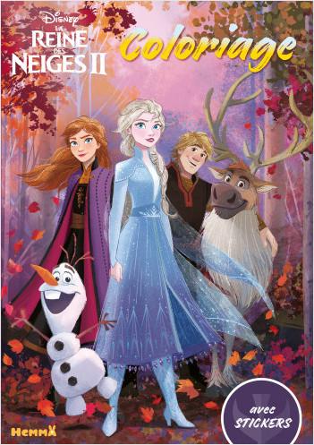 Disney La Reine des Neiges 2 - Coloriage avec stickers