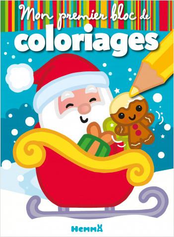 Mon premier bloc de coloriages (Père Noël - Traineau)