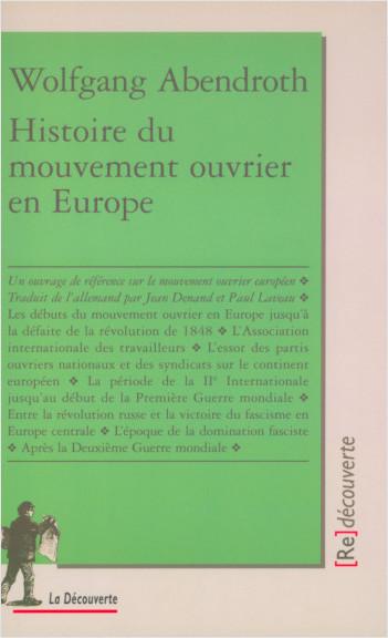 Histoire du mouvement ouvrier en Europe