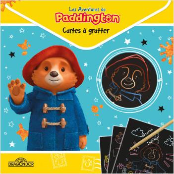 Paddington – Cartes à gratter – Pochette avec 10 cartes à gratter et un bâtonnet – Dès 5 ans
