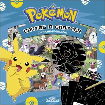 Pokémon – Cartes à gratter cherche-et-trouve à Galar – Pochette avec 10 cartes à gratter et un bâtonnet – Dès 6 ans