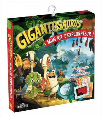Gigantosaurus – Mon kit d'explorateur  – Pochette créative avec une carte infrarouge, une loupe, un livret explicatif et 20 cartes à cacher – Dès 6 ans