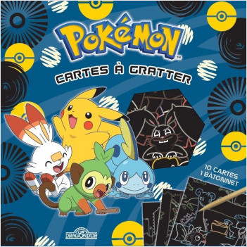 Pokémon – Cartes à gratter Pikachu et les starters de Galar – Pochette de 10 cartes à gratter – Dès 6 ans