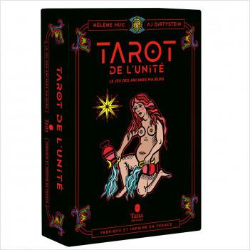 Coffret Tarot de l'unité – Fabrication française. Le jeu collector des 22 arcanes majeurs avec cartes et livre pour se reconnecter à soi. Ecoféminisme et spiritualité