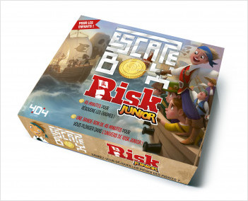 Escape box RISK Junior (Hasbro) - Escape game enfant de 2 à 5 joueurs - De 8 à 12 ans