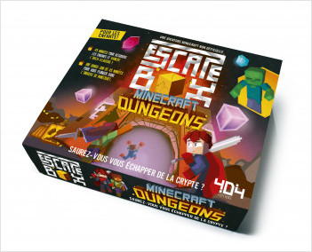 Escape box Minecraft Dungeons - Escape game enfant de 2 à 5 joueurs - De 8 à 12 ans